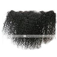 8-24 Très Frisé Cheveux humains Fermeture Brun roux Dentelle Suisse 30-50 gramme Taille du Bonnet