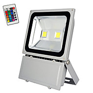 100W RGB with Remote Control LED Bulbs Flood Light Outdoor Landscape Security Spotlight Commercial Lamp(AC85-265V)