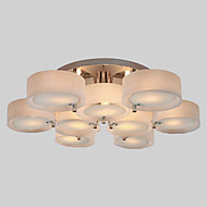Flush Mount ,  Modern/Contemporary Chrome Feature for Mini Style Metal Living Room Bedroom Study Room/Office