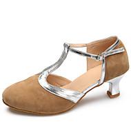 billige Moderne sko-Kan spesialtilpasses-Dame-Dansesko-Latinamerikansk / Moderne-Semsket skinn-Stiletthæl-Svart / Brun