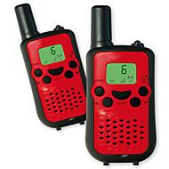 lett å snakke 446mhz walkie talkie for barn (5 farger) utgang 0.5w 8 kanaler opp til 3km-5km aaa alkalisk batteri (1 par)