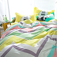 Wavy brief style 4piece bedding sets print duvet cover Sets 100% Cotton Bedding Set Queen Size