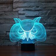 sova dotykový stmívání 3d vedl noční světlo 7colorful dekorace atmosféra lampa novinkou osvětlení vánoční světlo