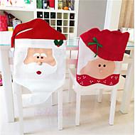 mooie kerst stoelbekleding mr& mevr kerstman kerstmis decoratie eetkamerstoel dekking home party decor