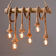 Vintage Hemp Rope Pendant Lights Loft Creative Industrial Lamp For Living Room Restaurant Bars Clothing Store decoration