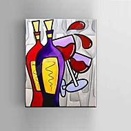 cheap Oil Paintings-Oil painting Modern Abstract Pure Hand Draw Frameless Decorative Painting Red Wine Glass with Stretched Framed