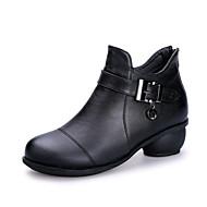 Femme Chaussures Modernes / Bottes de Danse Cuir Bottes Boucle Talon Bas Non Personnalisables Chaussures de danse Noir / Marron / Rouge