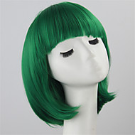 Synthetic Wig Women's Straight Green Bob Synthetic Hair Green Wig Short Capless Green