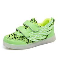 baratos Sapatos de Menino-Para Meninos Sapatos Couro Ecológico Primavera Conforto / Tênis com LED Tênis Caminhada LED para Preto / Fúcsia / Verde Claro
