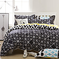cheap Contemporary Duvet Covers-Duvet Cover Sets Geometric 4 Piece Polyester Reactive Print Polyester 4pcs (1 Duvet Cover, 1 Flat Sheet, 2 Shams)