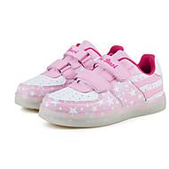 baratos Sapatos de Menina-Para Meninas Sapatos Tule Primavera Conforto / Tênis com LED Tênis Corrida / Caminhada Velcro / LED para Azul / Rosa claro