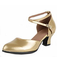 billige Moderne sko-Dame Sko til latindans / Moderne sko Kunstlær Sandaler Spenne Lav hæl Kan ikke spesialtilpasses Dansesko Sølv / Fuksia / Gylden