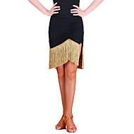 Latin Dans Tutuer & Nederdele Dame Træning Nylon Kvast Uden ærmer Naturlig Nederdel