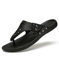 Bărbați Pantofi Piele Primăvară Vară Toamnă Papuci & Flip-flops Pentru Casual Negru Galben Albastru