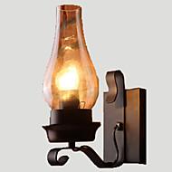 billige Krystall Vegglys-Lightinthebox Rustikk / Hytte / Vintage / Retro Rød Vegglamper Metall Vegglampe 110-120V / 220-240V 60W