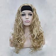Vrouw Synthetische pruiken Zonder kap Golvend Blond half Pruik Halloween Pruik Carnaval Pruik Kostuumpruiken