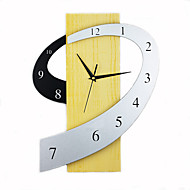 billige Veggklokker-Nyhet Moderne / Nutidig Wall Clock , Familie Tre 13*17