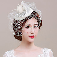 cheap Wedding Headpieces-Tulle Flax Fascinators Birdcage Veils 1 Wedding Special Occasion Headpiece