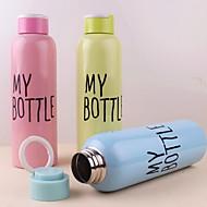 שכבה אחת 500ml בקבוק נייד נירוסטה עם קלע (צבע אקראי)