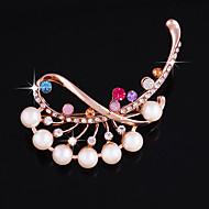 hesapli -Kadın's Broşlar Gül Pembesi Şık Moda Mücevher Düğün Günlük Kostüm takısı