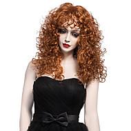 Vrouw Synthetische pruiken Zonder kap Middel Krullend Bruin Black Pruik Halloween Pruik Carnaval Pruik Kostuumpruiken