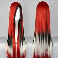 Naisten Synteettiset peruukit Suojuksettomat Suora Musta Purppura Punainen Sininen Costume Wig puku Peruukit