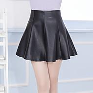Dame Plusstørrelser Sødt A-linje Nederdele Ensfarvet Drapering