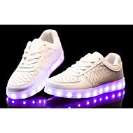 Feminino Masculino-Tênis-Conforto Light Up Shoes-Rasteiro--Couro Ecológico-Casual