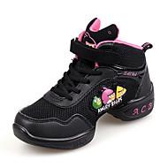 baratos Sapatilhas de Dança-Tênis de Dança / Sapatos de Dança Moderna Courino Botas / Têni Salto Baixo Não Personalizável Sapatos de Dança Fúcsia / Rosa claro /