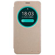 billiga Mobil cases & Skärmskydd-fodral Till Asus ZenFone Max ZC550KL / Asus Zenfone 2 Laser ZE550KL / Asus Asus-fodral med fönster / Lucka Fodral Enfärgad Hårt PU läder