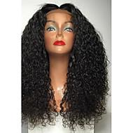 Prednja perika od sintetičkog čipke Kovrčav Srednji dio Prirodna linija za kosu Crna Žene Lace Front Karnevalska perika Halloween paru