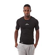 Homens Camiseta de Corrida Branco Preto Esportes Clássico Camiseta Pulôver Blusas Exercício e Atividade Física Basquete Corrida Manga Curta Roupas Esportivas Respirável Secagem Rápida Redutor de Suor