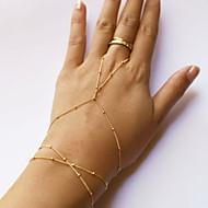 Dames Ringarmbanden Sierstenen Goedkoop Slaven van goud Dames Eenvoudige Stijl Modieus leuke Style Legering Armband sieraden Gouden Voor Dagelijks Causaal