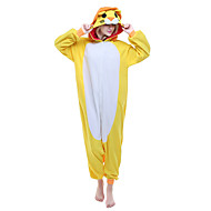 Χαμηλού Κόστους New Cosplay®-Ενηλίκων Πιτζάμα Kigurumi Λιοντάρι Πιτζάμα Onesie Στολές Πολική Προβιά Κίτρινο Cosplay Για ζώο Πυτζάμες Κινούμενα σχέδια Απόκριες Γιορτές / Διακοπές / Χριστούγεννα