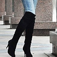 Women's Boots     Heels / Fashion Boots Leatherette Outdoor / Office & Career / Casual Stiletto Heel Black /