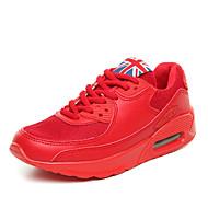 Masculino-Tênis-Conforto-Rasteiro-Preto Verde Vermelho Branco-Tule Microfibra-Ar-Livre Casual Para Esporte