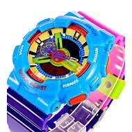저렴한 -SANDA 남성용 스포츠 시계 / 디지털 시계 알람 / 달력 / 방수 고무 밴드 위장 / 야광의 / LCD / 듀얼 타임 존 / 스톱워치 / 2 년
