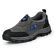 Masculino sapatos Tecido Primavera Outono Conforto Tênis Aventura Para Casual Cinzento Verde