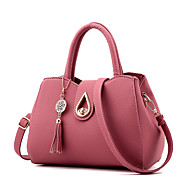 Women Bags PU Shoulder Bag Fur for Shopping Casual Formal Outdoor Office & Career Winter Spring Summer Fall All Seasons Pink Wine Dark