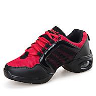 Dame-Tyll-Flat hælFlate sko-Fritid-Hvit Korall Svart Og Gull Svart og Rød
