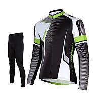 TASDAN Uzun Kol Bisiklet Taytı Erkek Bisiklet Pantalonlar Forma Bisiklet Tayt Üstler Giysi Setleri/Takım ElbiselerNefes Alabilir Hızlı