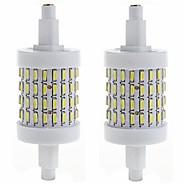 billige Kornpærer med LED-SENCART 450-500lm R7S LED-kornpærer Innfelt retropassform 72 LED perler SMD 4014 Dekorativ Varm hvit / Kjølig hvit 85-265V / 2 stk. / CE