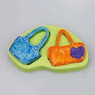 2016 new ms. Forma de saco bolo de fondant decorando silicone molde sabão silicone molde cor aleatória