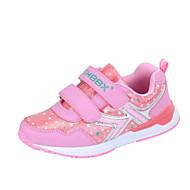 baratos Sapatos de Menina-Para Meninas Sapatos Couro Ecológico Primavera Tênis Caminhada Velcro para Roxo / Pêssego / Rosa claro