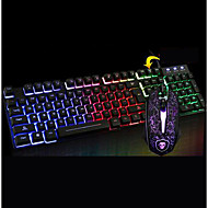 chefe t6 sombra do rato do teclado luminoso teclado cabo de desktop terno computador usb