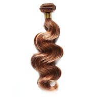 Натуральные волосы Индийские волосы Precolored ткет волос Естественные кудри Наращивание волос 1 шт. Клубничный Светлый / Средний Auburn