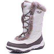 billige Skosalg-Dame Sko Griseskinn Spandex Tekstil Vinter Høst Snøstøvler Støvler Flat hæl Snøring til utendørs Hvit Svart Rosa