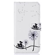 billiga Mobil cases & Skärmskydd-fodral Till Apple iPhone 5-fodral iPhone 6 iPhone 7 Korthållare Plånbok med stativ Lucka Läderplastik Fodral Maskros Hårt PU läder för