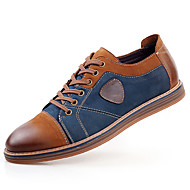 Men's Oxfords Spring / Summer / Fall / Winter Comfort Cowhide / Leather Casual Flat Heel Lace-up Brown / Gray