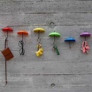uudet 3kpl koukku avain hiukset keilanpidikkeen järjestäjä koriste uusi sateenvarjo seinäkoukkuja (random hiusten väri)
